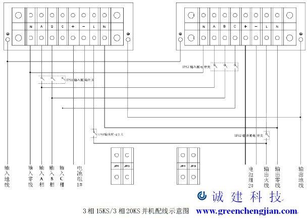 广东 华南山特UPS电源6KVA 20KVA并机接线图操作维护说明 广东图片