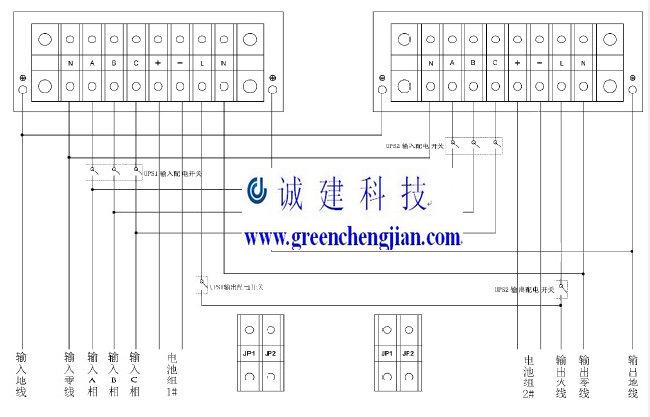 深圳(广州)山特ups电源c6k-3c20ks的并机安装详细说明-诚建科技ups