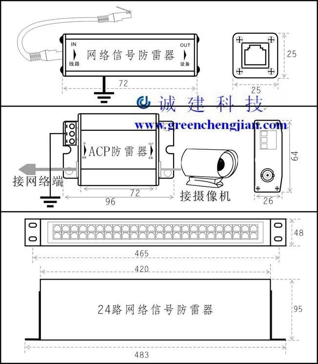 供应acpacp-rj45网络摄像机防雷器